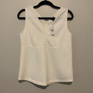 Women's NWT ivory Anne Taylor sleeveless blouse